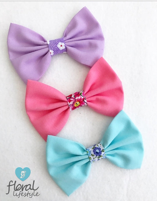 Midi Bow Set - Plain and Pattern - Set of 3