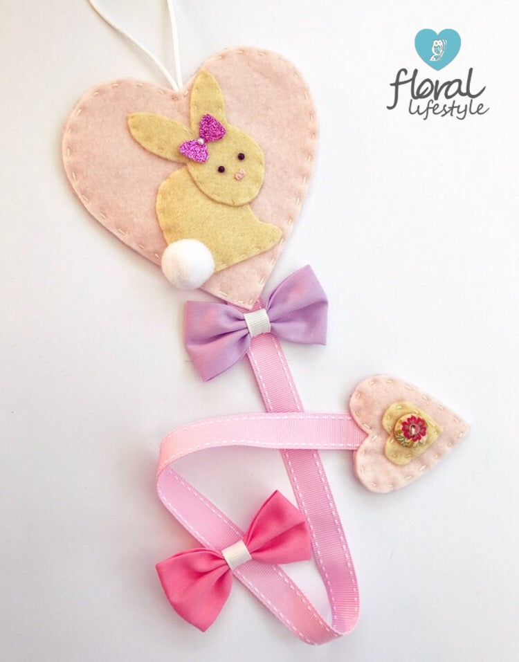 Hair bow holder - Bunny - Standard