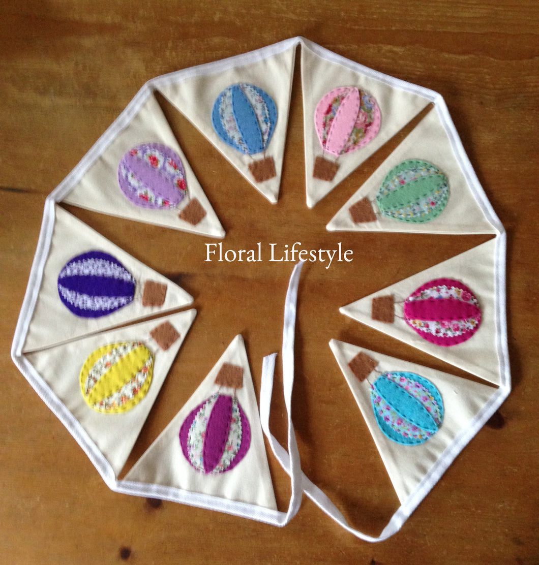 Multi coloured Hot Air Balloon Bunting
