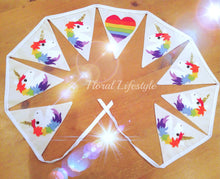 Unicorn bunting - Rainbow