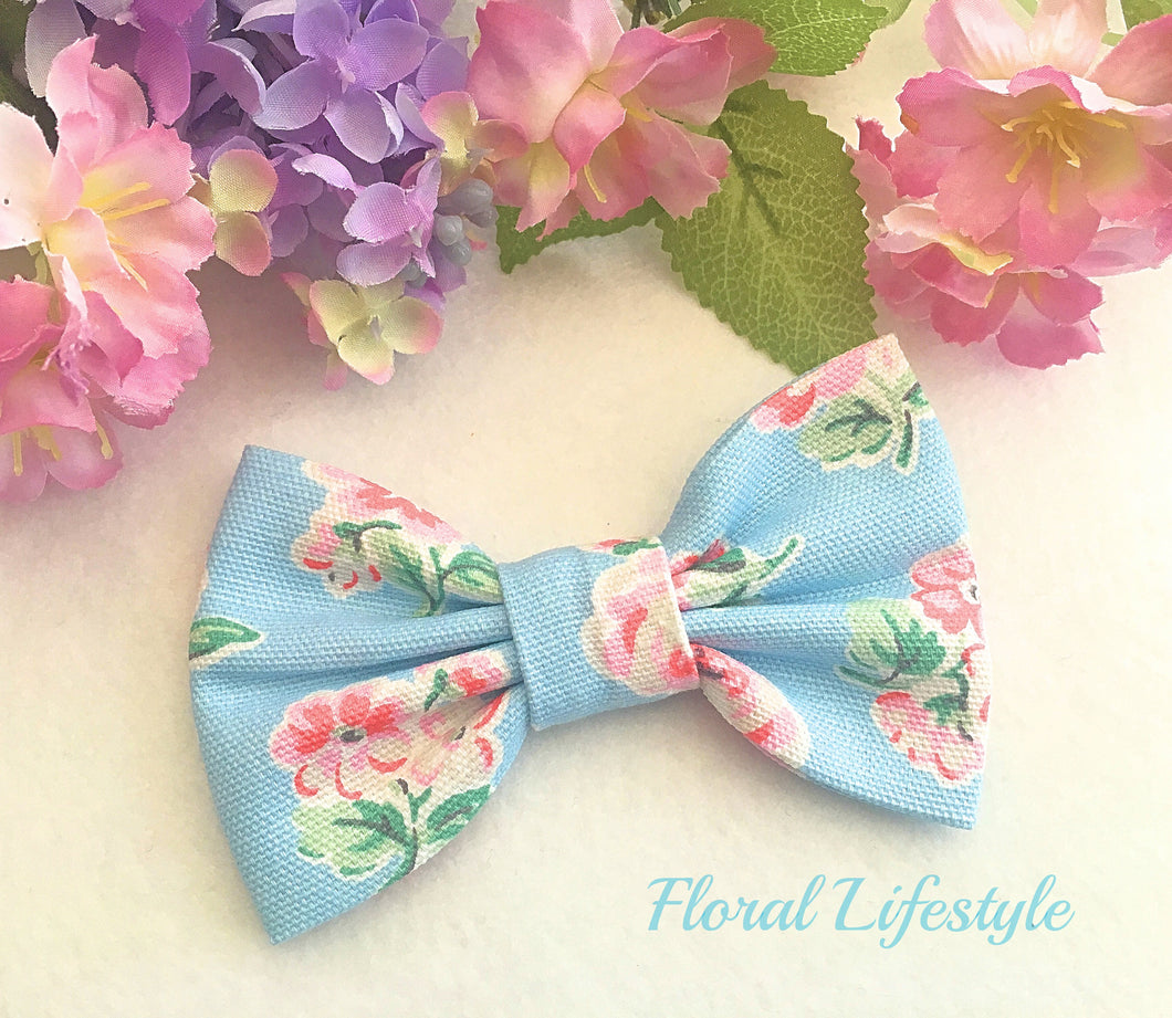 Cath Kidston Fabric Bow - Ashdown Rose Sky Blue