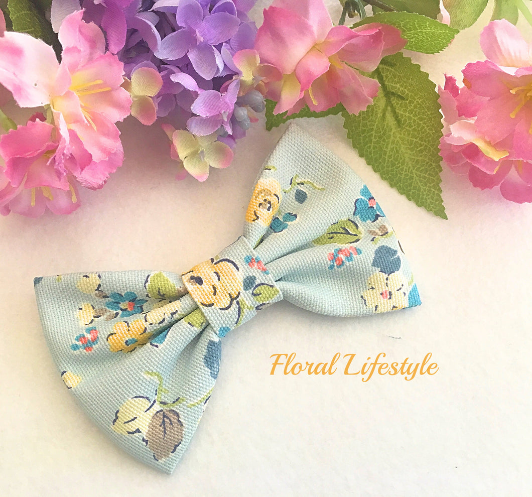 Cath Kidston Fabric Bow - Woodland Rose Sky Blue