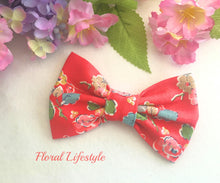 Cath Kidston Fabric Bow - Woodland Rose Red