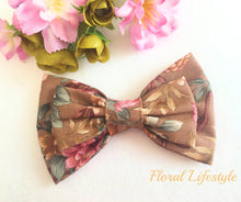 Large Hair Bow - Safari