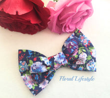 Large Hair Bow - Dusk Meadow