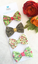 Small Hair Bows set - Gorgeous in Green