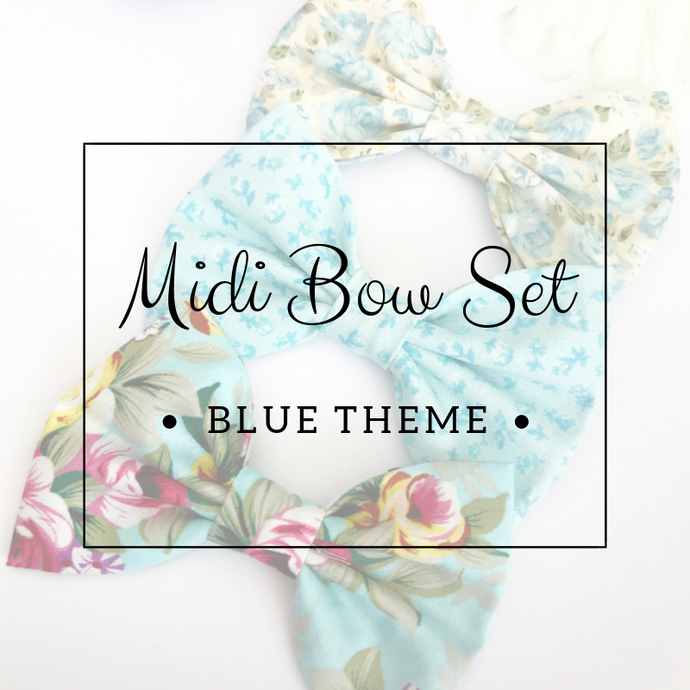 Midi bow set - Lucky dip - Blue Theme
