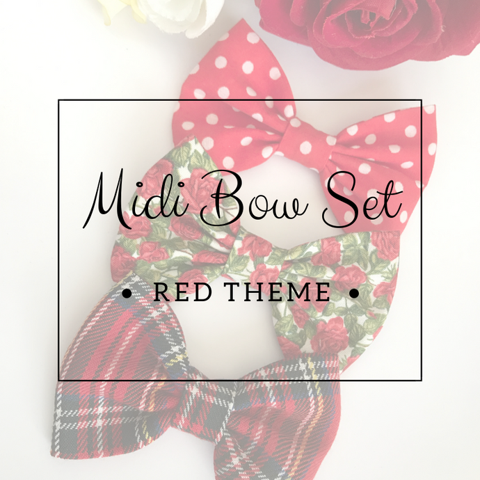 Midi bow set - Lucky dip - Red Theme