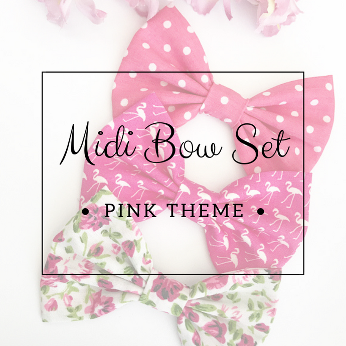 Midi bow set - Lucky dip - Pink Theme