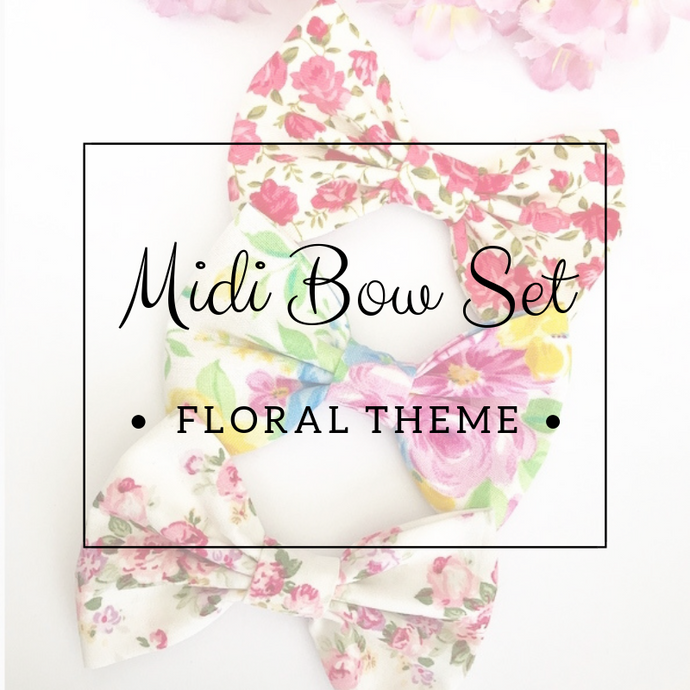 Midi bow set - Lucky dip - Floral Theme