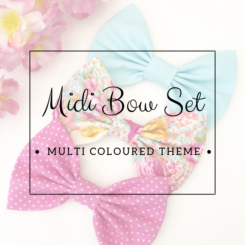 Midi bow set - Lucky dip - Multi Coloured Theme