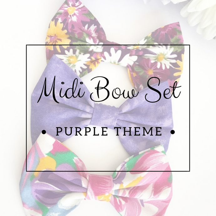 Midi bow set - Lucky dip - Purple Theme