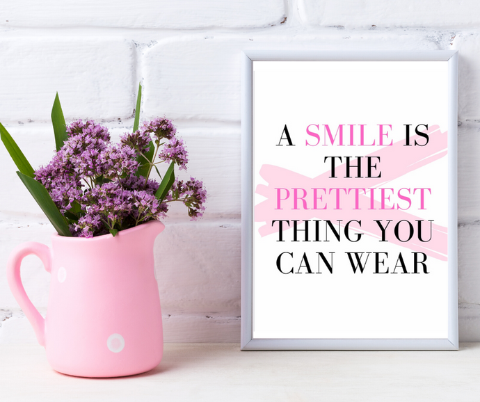 A Smile Is The Prettiest Print