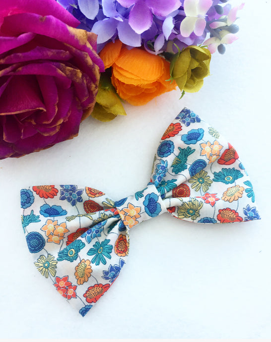 Liberty Luxe Hair Bow - Lydia (Autumnal colours)