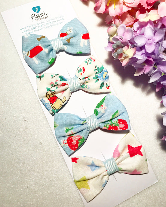 Small Cath Kidston Fabric Bows Set - Collection 2