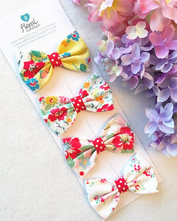 Small Cath Kidston Fabric Bows Set - Collection 1