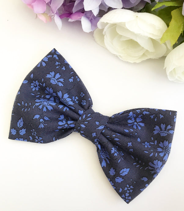 Liberty Luxe Hair Bow - Capel Blue