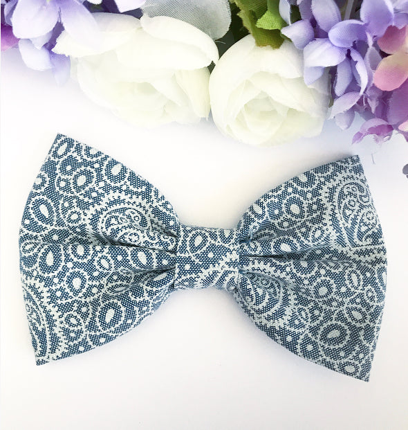 Liberty Luxe Hair Bow - Zhivago Light Blue