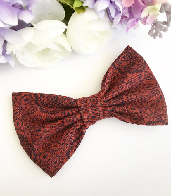 Liberty Luxe Hair Bow - Zhivago Maroon