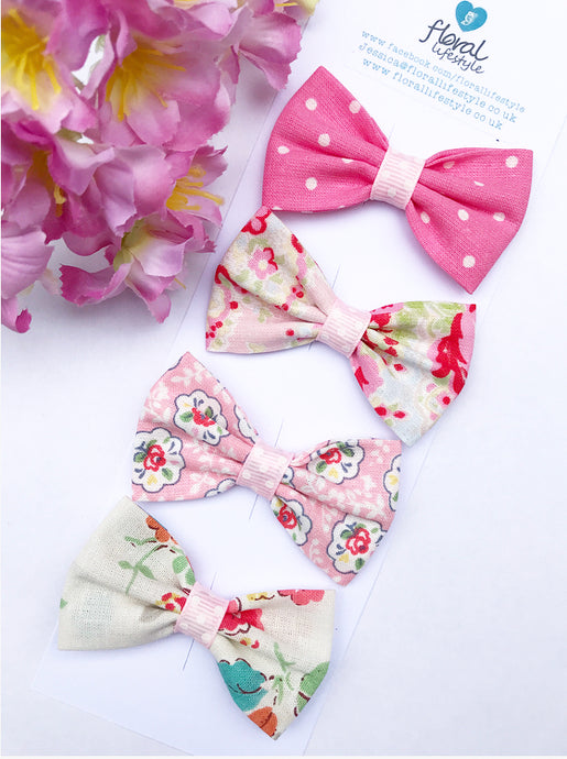 Small Cath Kidston Fabric Bows Set - Collection 4