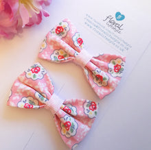 Small Cath Kidston Fabric Bows - Matching Pair - Kempton Rose