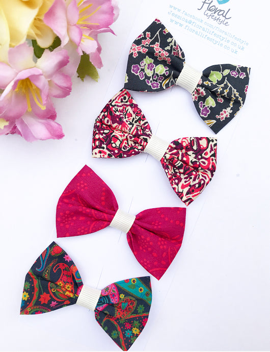Liberty Luxe Small Bow Collection - Autumn