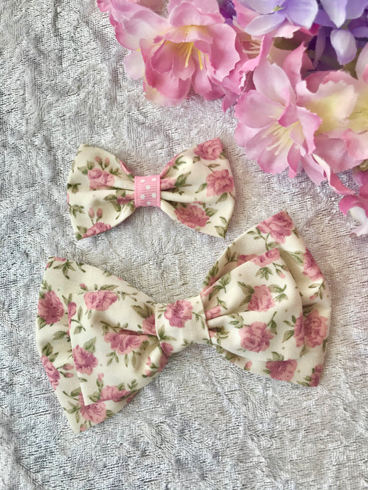Mother and Daughter / Two sisters bow set - Emily