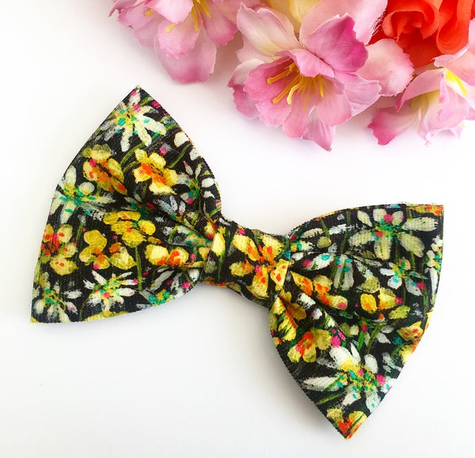 Liberty Luxe Hair Bow - Eleonora - Yellow and Green