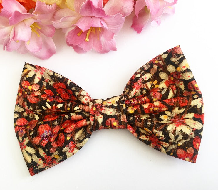 Liberty Luxe Hair Bow - Eleonora - Red and Burgundy