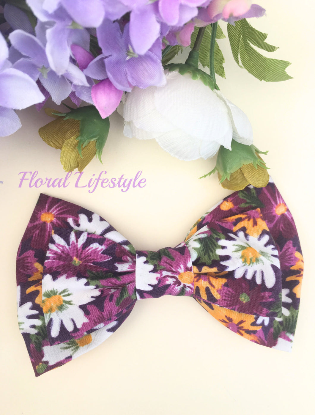 Large Hair Bow - Lazy Daisy