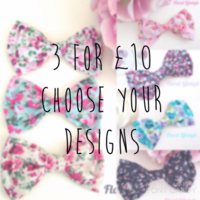 Large Hair Bows - Multibuy Offer 3 for £10