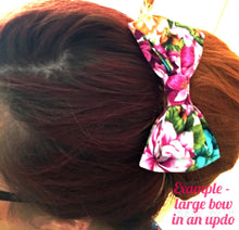 Large Hair Bow - A Flamboyance of Flamingos - White