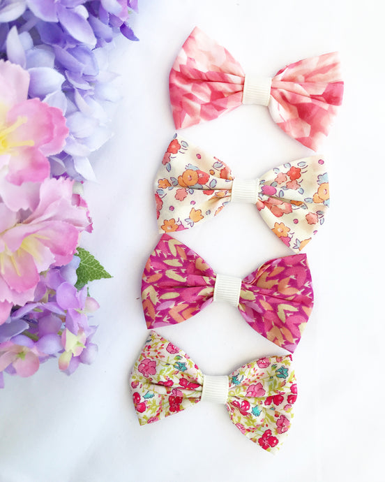 Liberty Luxe Small Bow Collection - Pinks