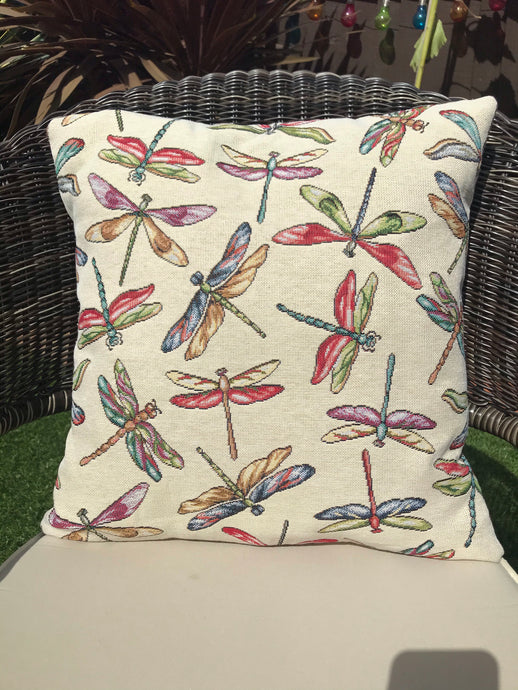 Dragonfly Tapestry Style Cushion