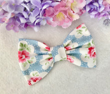 Cath Kidston Fabric Bow - Light Blue Provence Rose