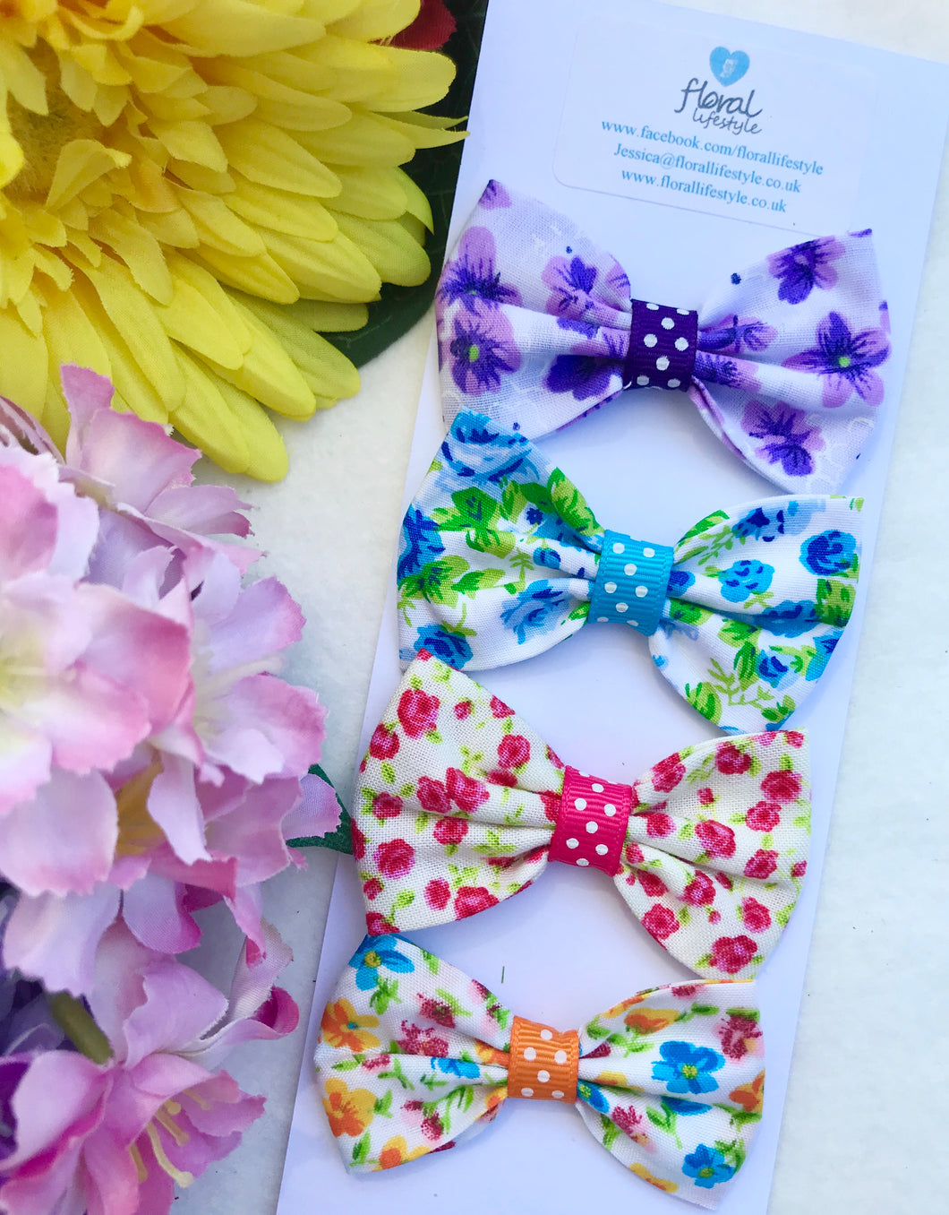 Small Hair Bows set - Carnival