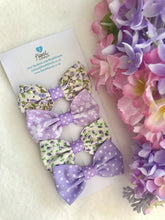 Small Hair Bows set - Lovely in Lilac