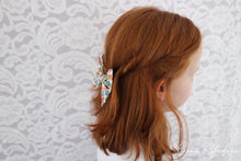Liberty Luxe Hair Bow - Chive