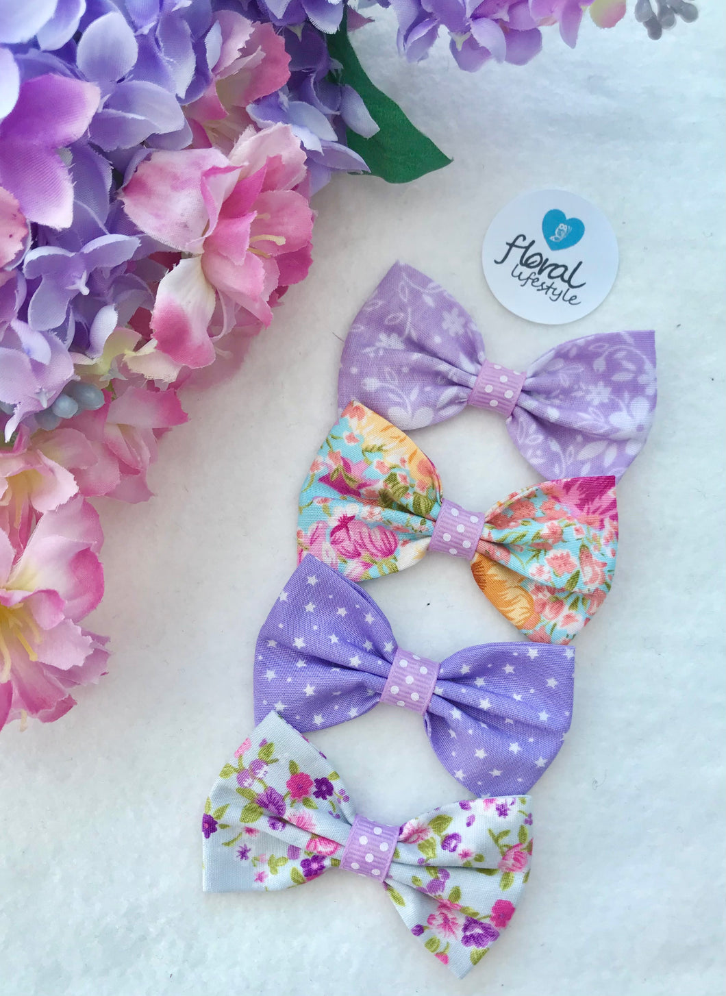 Small Hair Bows set - TWELVE