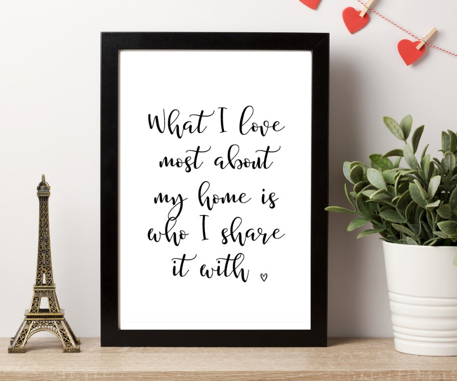 Home and Who I Have Print