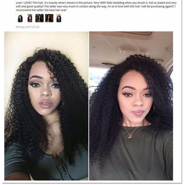 Lace Front Human Hair 130% Density Pre Plucked Brazilian Kinky Curly Wig