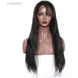 Brazilian Straight Lace Front Wig Pre Plucked Hairline