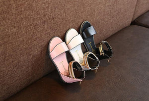 Glack High Roman Leather Girls Summer Sandals