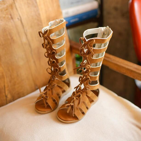 018 Summer Cut-outs Small Bow-ties Rome Style Gladiator Sandals