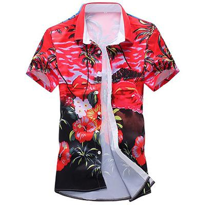 New 2018 3D Palm Tree Printing Beach Shirt