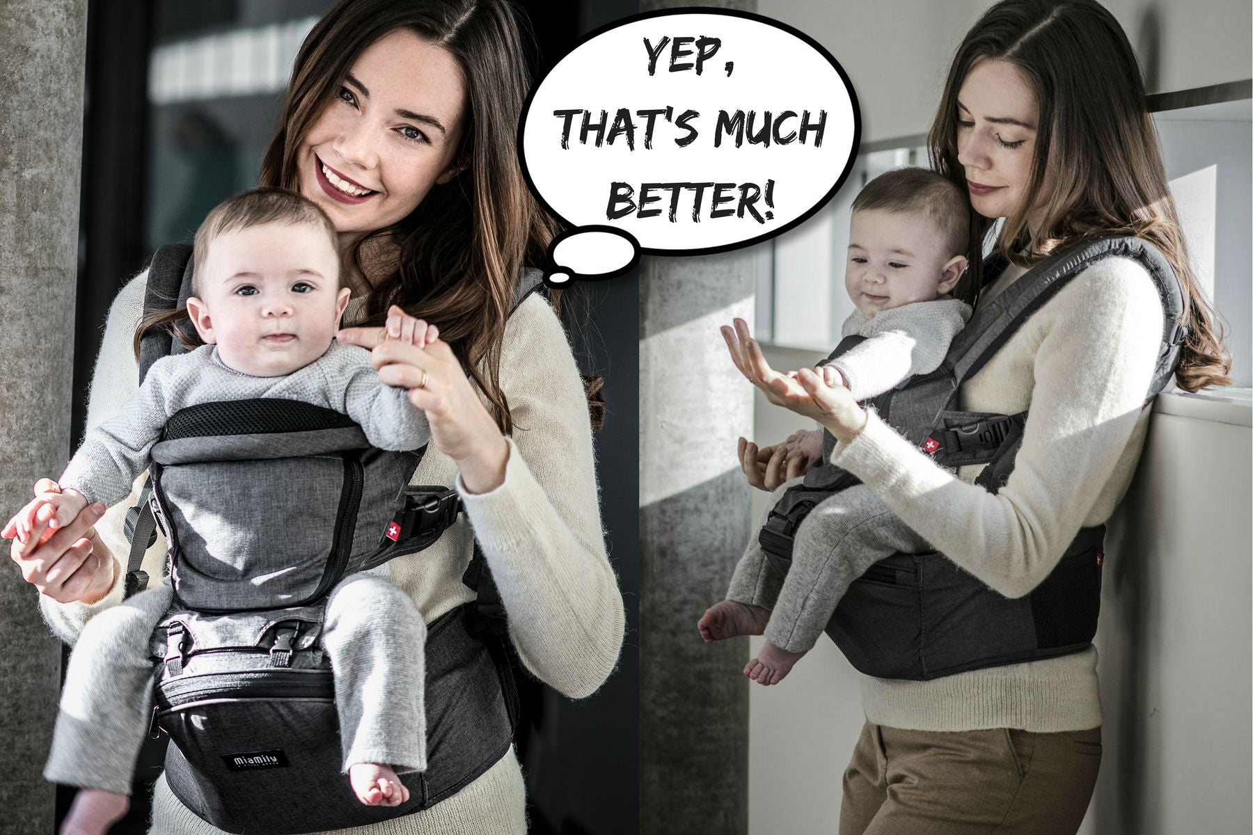 MiaMialy HIPSTER™ PLUS 3D Baby Carrier