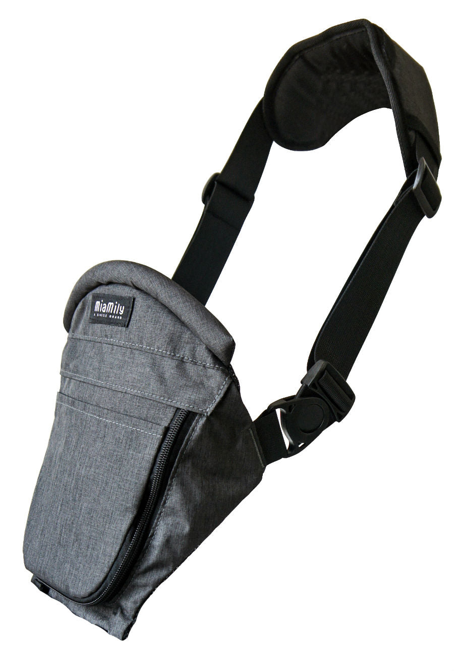 Single Shoulder Charcoal Grey