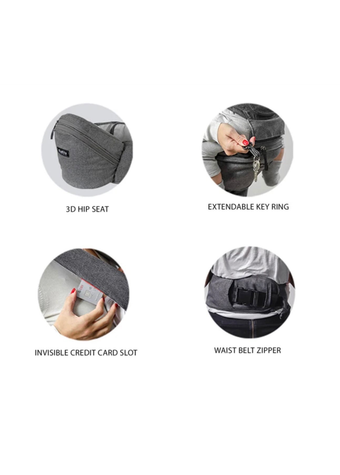 HIPSTER™ SMART 3D Baby Carrier features