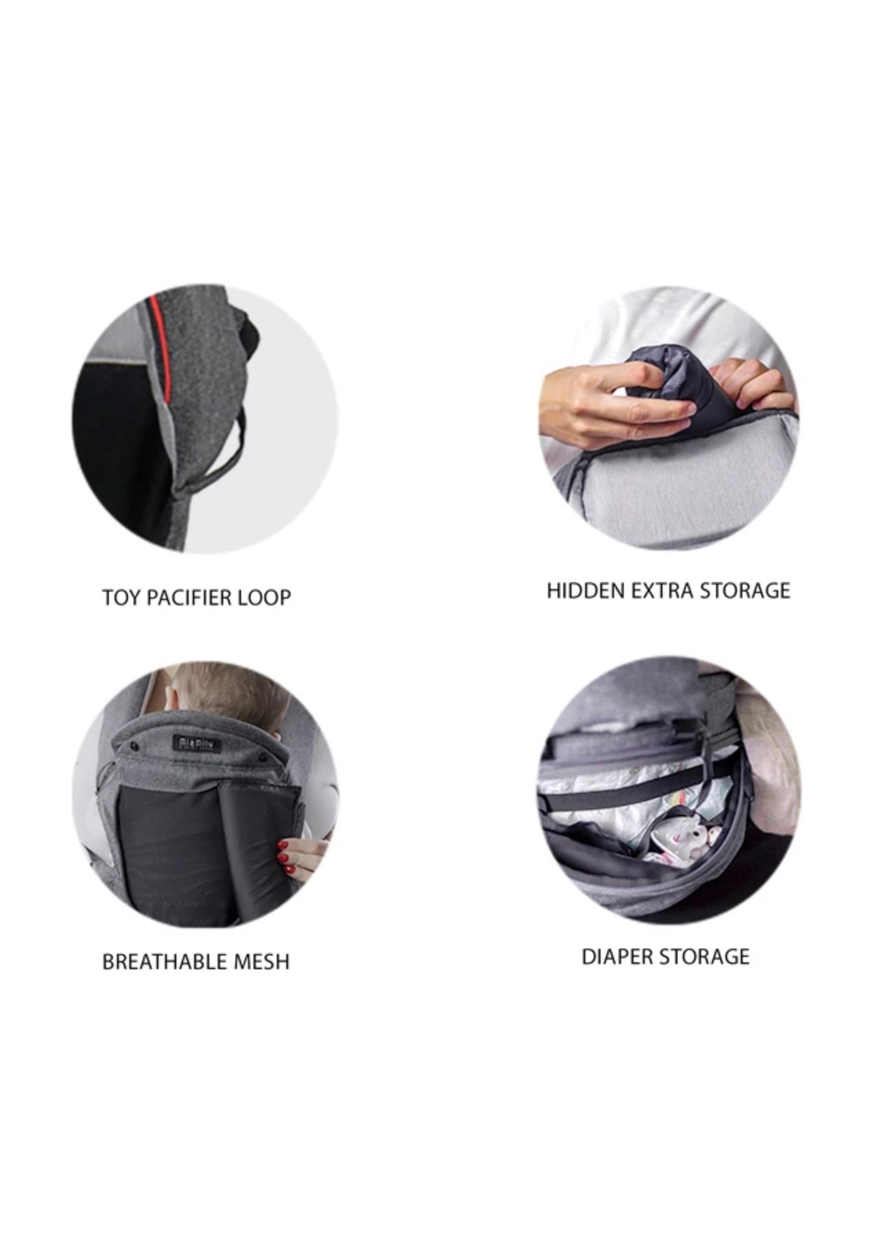 HIPSTER™ SMART 3D Baby Carrier features 2