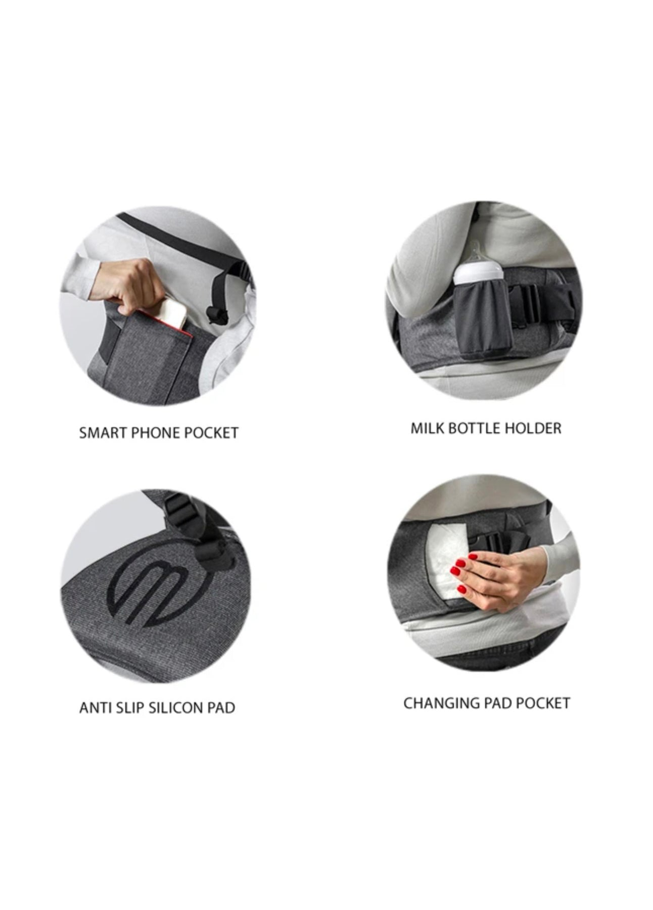 HIPSTER™ SMART 3D Baby Carrier features 3